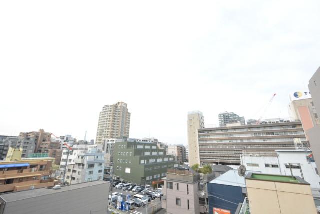 飯田橋第一パークファミリア 西側バルコニー